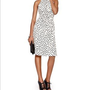 Kate Spade Leopard tie neck crepe dress